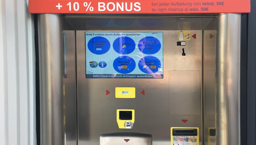 24 h Carwash Terlan - Autowaschanlage Oberrauch - Kassenautomat
