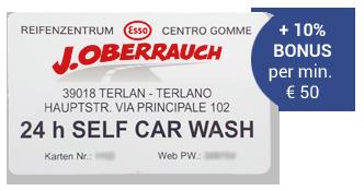 Carwash a Terlano - Scheda cliente J. Oberrauch