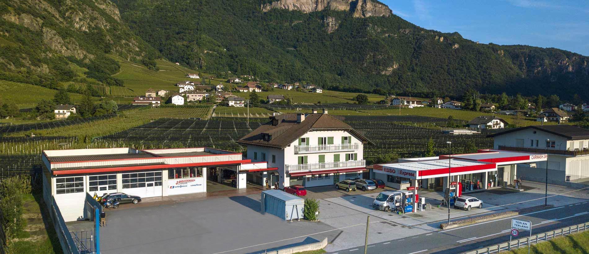 Distributore, gommista e lavaggio auto J. Oberrauch, Terlano (Bolzano - Merano)